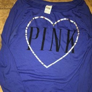 Blue long sleeve shirt by Pink